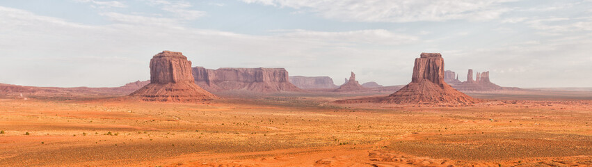 Monument Valley aerial sky view