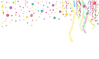 Colorful confetti and gems background vector