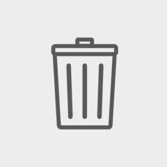 Trash Can thin line icon