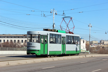 Retro Tram in Moscow
