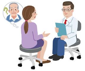 医者 相談 Daughter tells the doctor about her father
