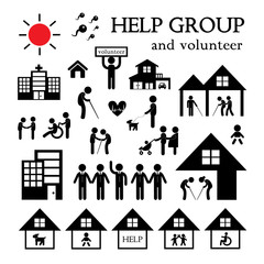 volunteer for non profit social service symbol