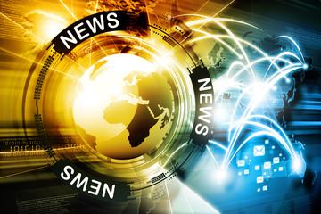 Digital news background