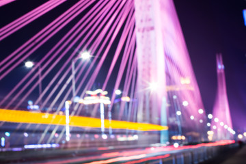 blurred bridge traffic