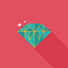 Propose diamond flat icon with long shadow,eps10