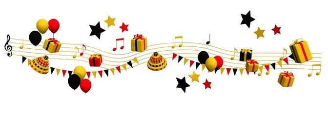 Muziek feest met cadeaus en vlaggetjes in Duitsland