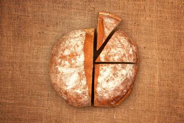 Bread pie chart on fiber