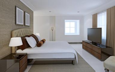 Comfortable bedroom avant-garde style