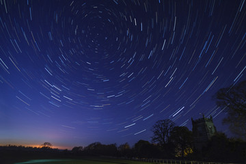 Star Trails - Astronomy Wall mural