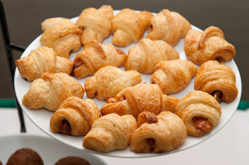 croissant on the buffet line
