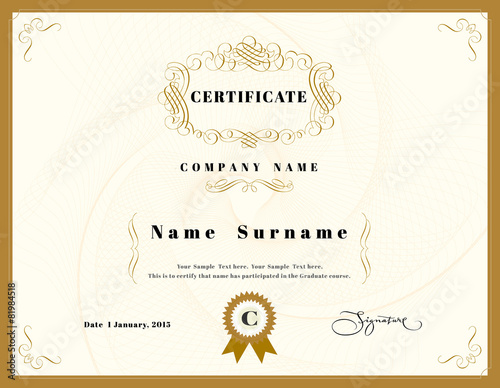 """Certificate of appreciation design template element with ..."