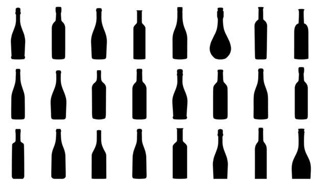 wine bottle silhouettes