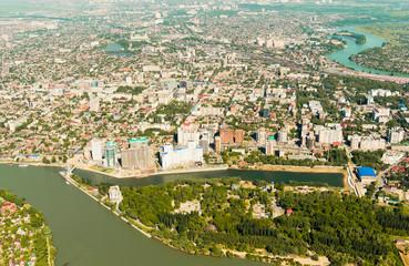 City of Krasnodar, top view