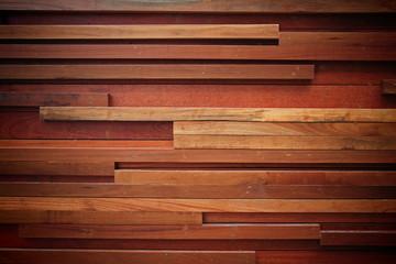 Modern wooden wall decoration