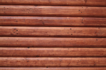 red wooden trunk wall