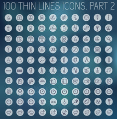 part 2 of collection thin lines pictogram icon