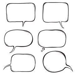 Speech bubble. Sketch vector illustration.