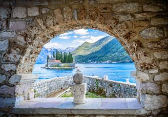 Fototapeta Island monastery St. George near Perast