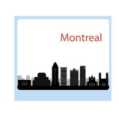 Montreal Canada city skyline silhouette vector illustration