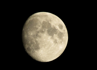 Moon with craters