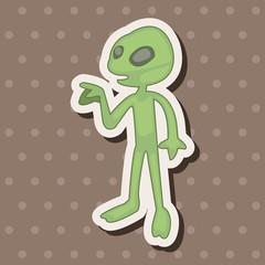 Space alien theme elements vector,eps