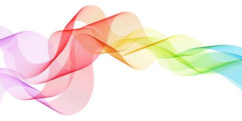 虹 カラフル 曲線