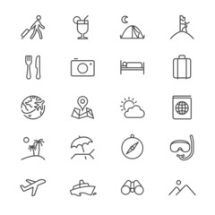 Traveling thin icons