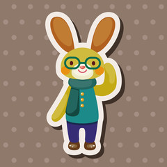 rabbit theme element vector,eps