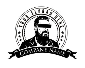man beard logo image vector