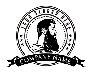 man beard logo
