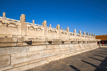 The mable fence in Forbidden City