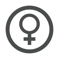 Icono redondo femenino gris