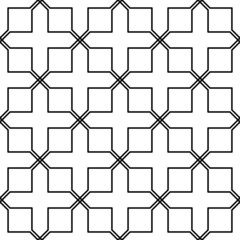 Black and white geometric seamless pattern in arabic stylish.