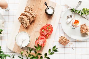 Obraz śniadanie - fototapety do salonu
