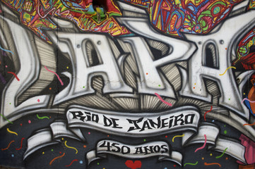 Lapa Rio de Janeiro Brazil Street Graffiti