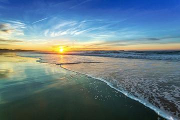 Keuken foto achterwand Blauw Sunset