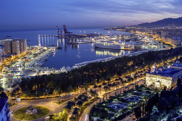 Malaga Port at Night