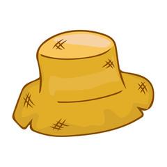 straw hat isolated illustration