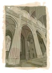 Czech Republic, Prague St. Vitus Cathedral interior