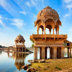 Keuken foto achterwand India Gadi Sagar (Gadisar), Jaisalmer, Rajasthan, India, Asia