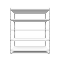 Empty storage shelves