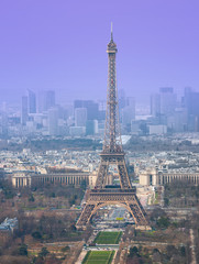 High angle view of Eiffel tower