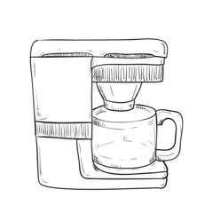 Vector sketch hand drawn of kitchen utensils