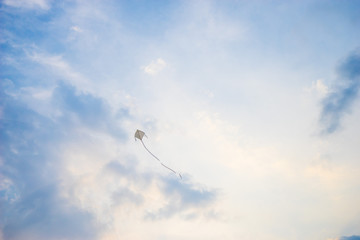 Flying Kite in the sky.