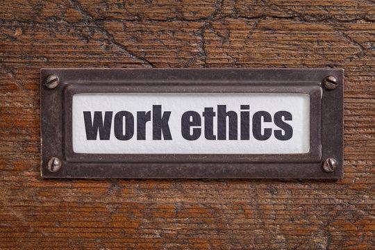 work ethics file  label