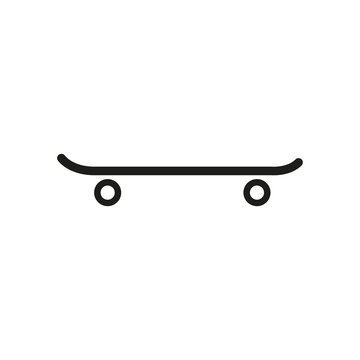 The skateboard icon. Sport symbol. Flat
