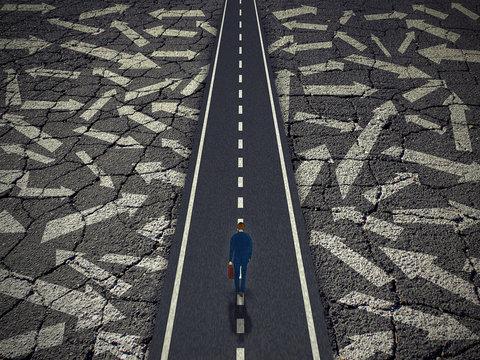 Solution path business success concept.