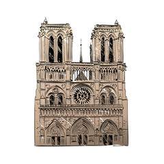 The Cathedral of Notre Dame de Paris, France