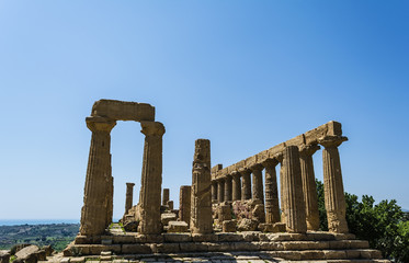 Ancient Greek Temple of Juno God, Agrigento, Sicily, Italy