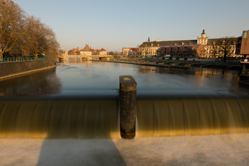Waterfall near University in Wroclaw, Poland